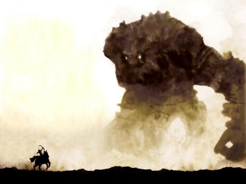 Um quadro de..., ops... Uma tela de Shadow of the Colossus.
