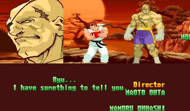 """""""Ryu... tem algo que eu quero te dizer..."""" - Lá lá lá, não estou ouvindo. Lá vem os papinhos de um sujeito semi-nu...."""
