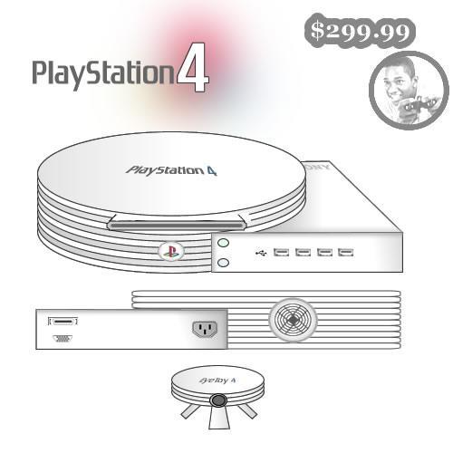 O desingn do Playstation 4, só uma coisa a dizer: feio!