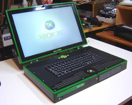 Se fizeram um PS3 no formato laptop, porquê não um 360 nos mesmos moldes? (Repetindo a piada) Alguém encara uma partida no busão?
