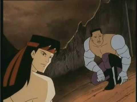 Liu Kang bate um lero com Jax.