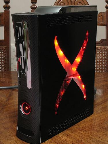 Um sério candidato a mais belo Xbox 360 já criado, só tem um problema: as luzes vermelhas.