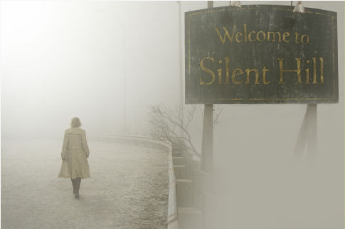 "Mude a placa para ""Welcome back to Silent Hill""."